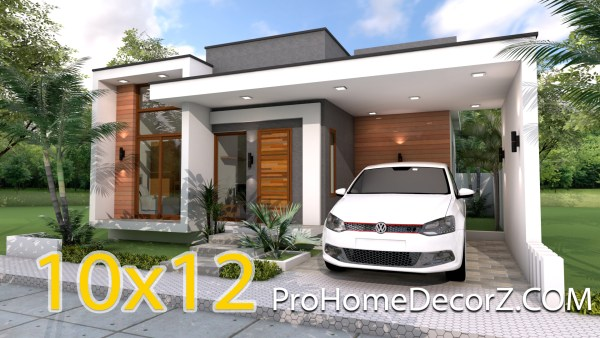 One Storey House 10x12 meter 33x40 Feet 3 Beds