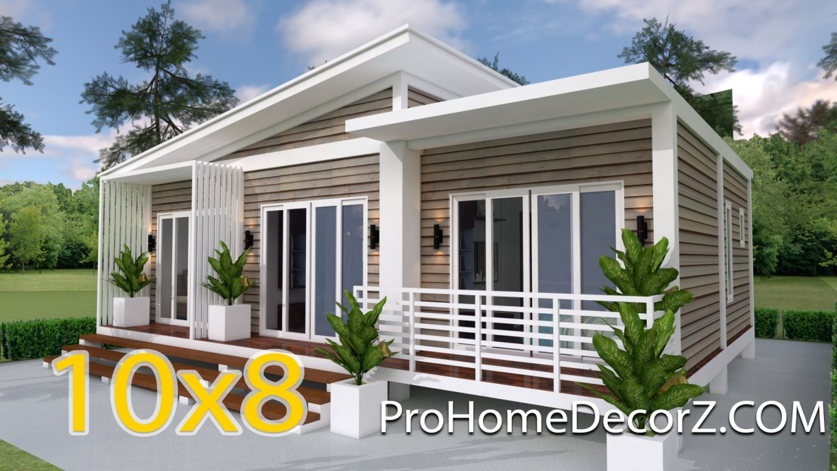 One Story House Plans 10x8 Meter 33x26 Feet