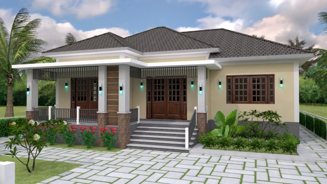 One Story House Plans 12x11 Meter 39x36 Feet 3 Beds 5