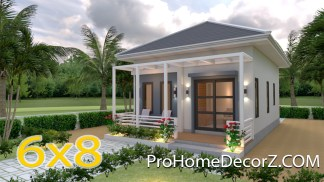 Small Homes 6x8 Hip Roof 48 Sq.m