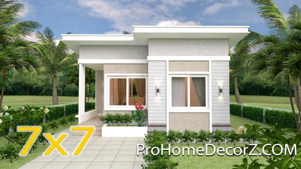 Small Luxury Homes 7x7 Meter 24x24 Feet 2 Beds