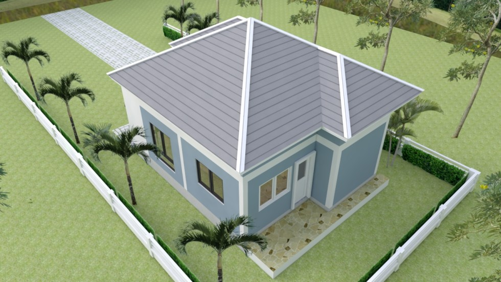 Small Mansion 6.5x8.5 Meter 22x28 Feet Hip roof 4