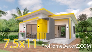 Small Modern House Designs 7.5x11 Meter 25x36 Feet