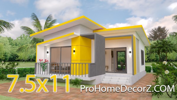 Small Modern House Designs 7.5x11 Meter 25x36 Feet