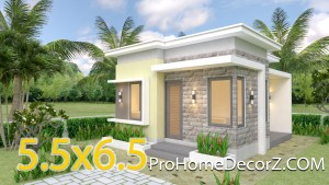 Small Villa Designs 5.5x6.5 with Flat Roof