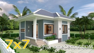 The Small Home 7x7 Meter 24x24 Feet 2 Beds