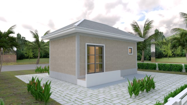 Back House 3d Elevation