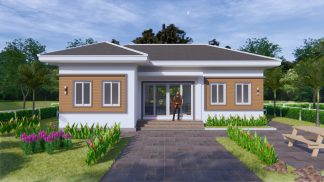 Contemporary House Plans 12x8 Meter 40x27 Feet