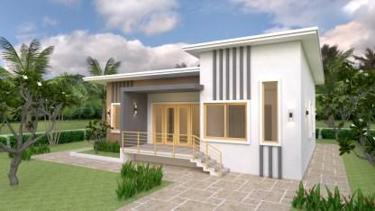 Modern House Design 12x12 Meter 39x39 Feet
