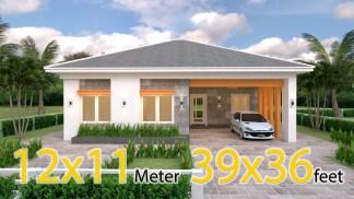 One Storey House Design 12x11 Meter 39x36 Feet 3 Beds