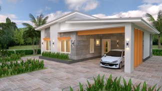 Single Floor House Plans 12x11 Meter 39x36 Feet