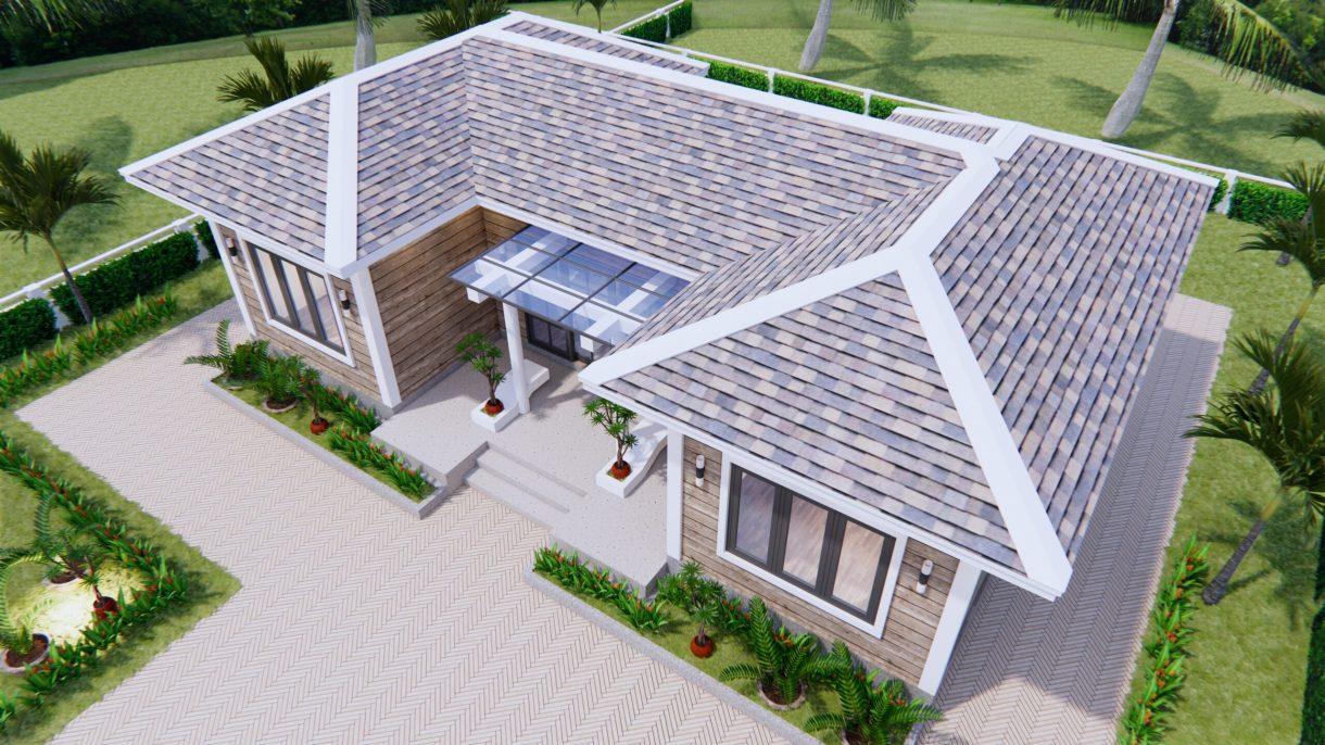 3d House Drawing 13x7.5 Meter 43x25 Feet 3 Beds 4