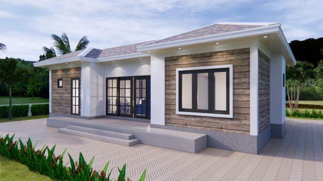 3d House Drawing 13x7.5 Meter 43x25 Feet 3 Beds 7