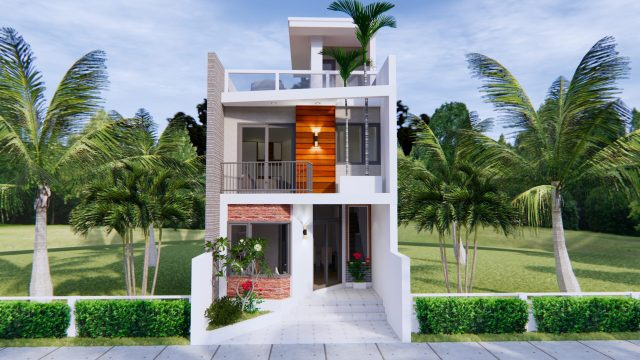 Home Designs 5x10 Meter 17x33 Feet 2 Beds 4