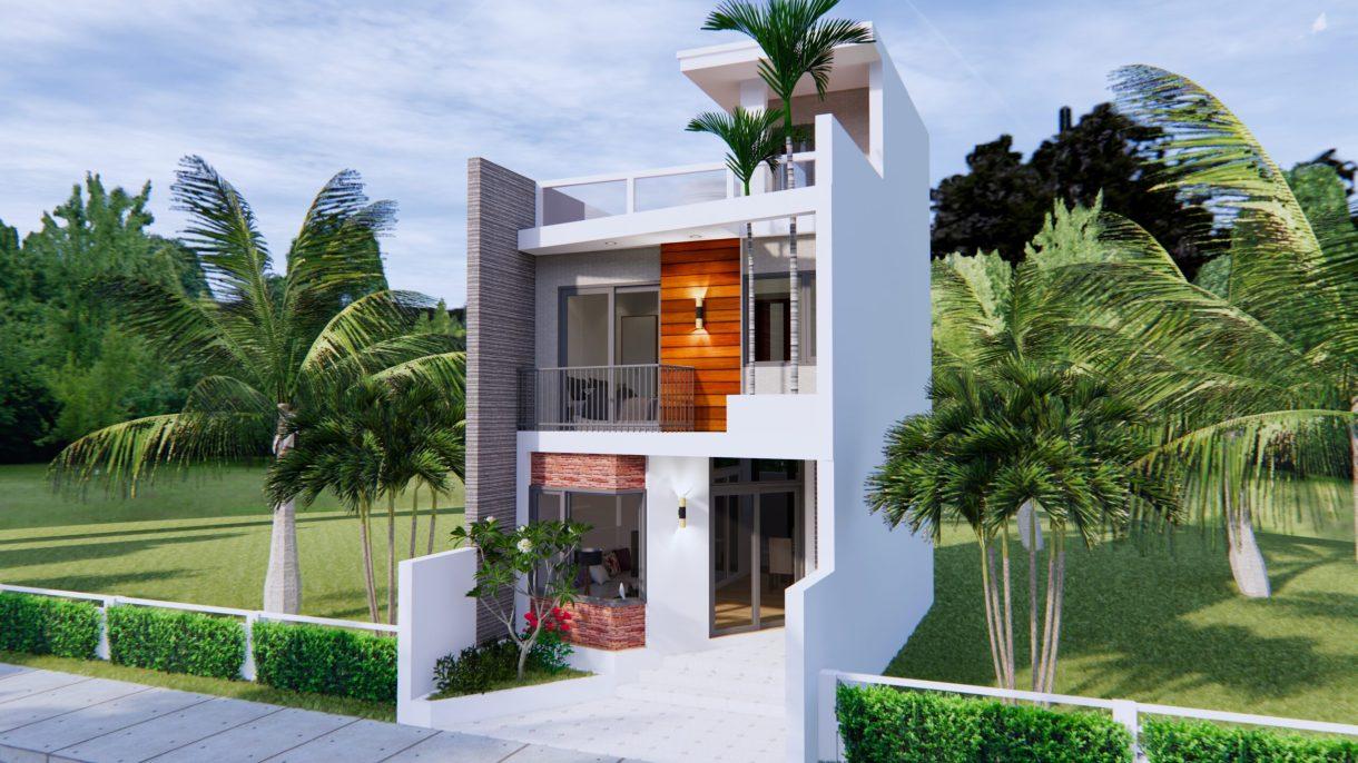 Home Designs 5x10 Meter 17x33 Feet 2 Beds 5