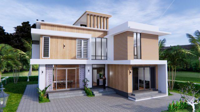 House Plans 12.4x11 Meter 41x35 Feet 4 Beds 1
