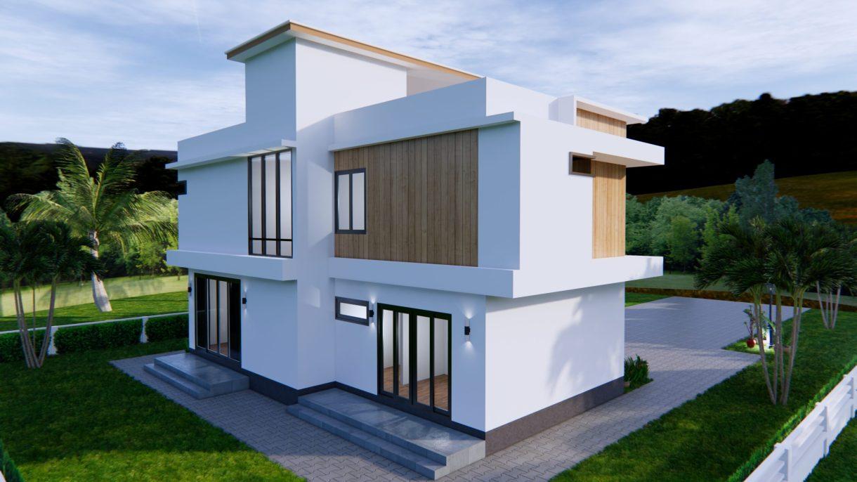 House Plans 12.4x11 Meter 41x35 Feet 4 Beds 6