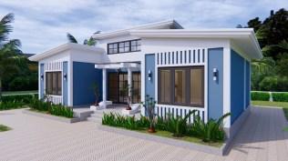 House Plans 13x7.5 Meter 43x25 Feet 3 Beds 4