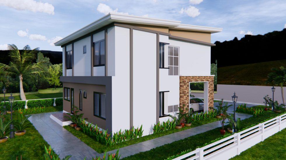 House Plans 9x11 Meter 30x36 Feet 4 Beds 5