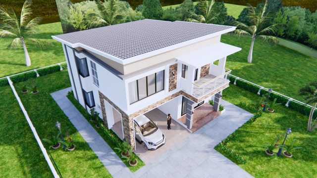 House Plans 9x11 Meter 30x36 Feet 4 Beds 7