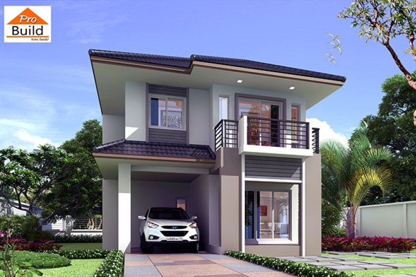 Small House Plans 7.5x10.3 meter with 4 Bedrooms 1