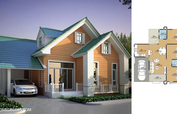 Home Plans 10.5×10.5 with 3 Bedrooms