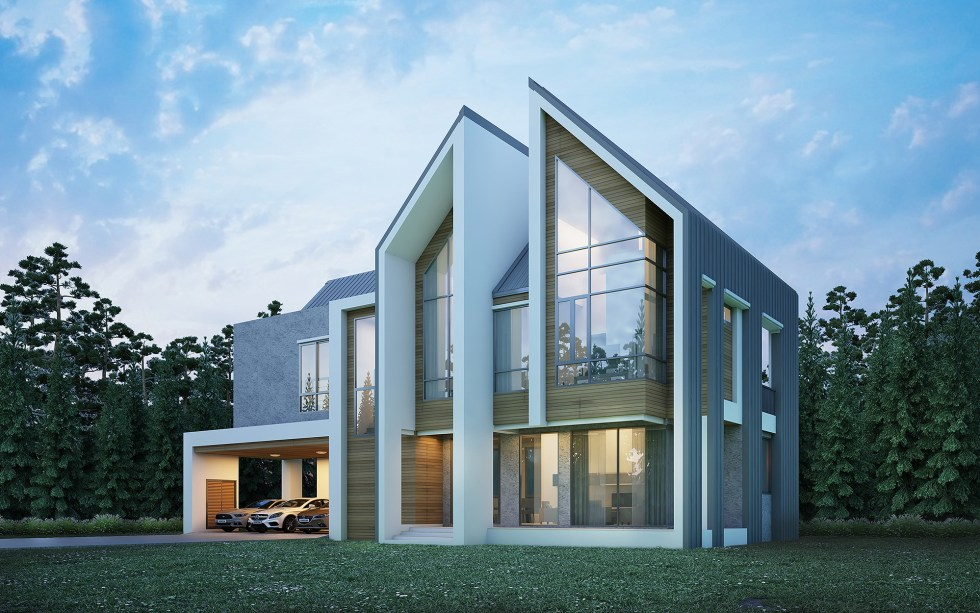 House Design 3d Plot 25x15 with 6 Bedrooms
