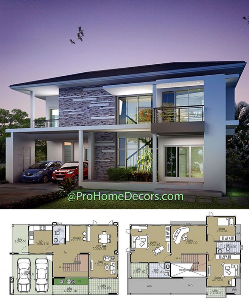 House Plans 12.5x8.5 with 3 Bedrooms