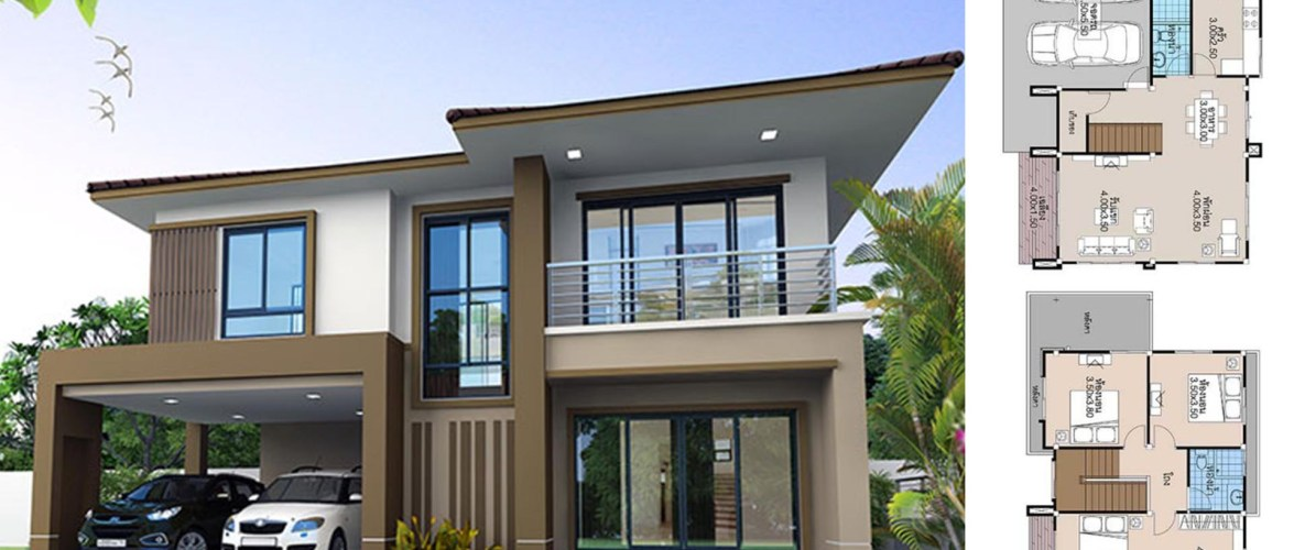 House Plans 13.5×9 with 3 Beds