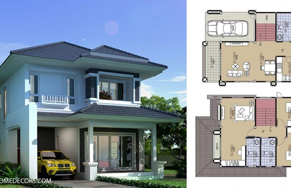 House Plans 7×10.2 with 3 Beds
