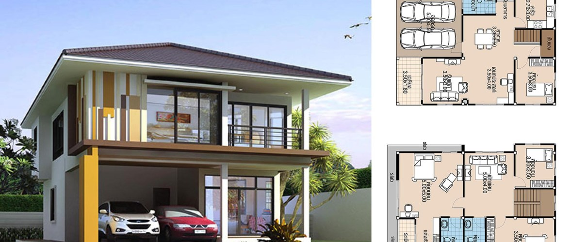 House Plans 8.5×12.5 with 4 Bedrooms