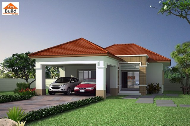 House Plans 9.5x14.5 with 3 Beds