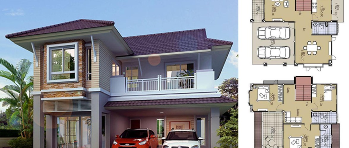 House Plans 9×10.2 with 3 Beds
