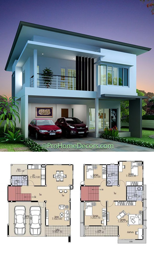 House Plans 9x10.5 with 4 Bedrooms