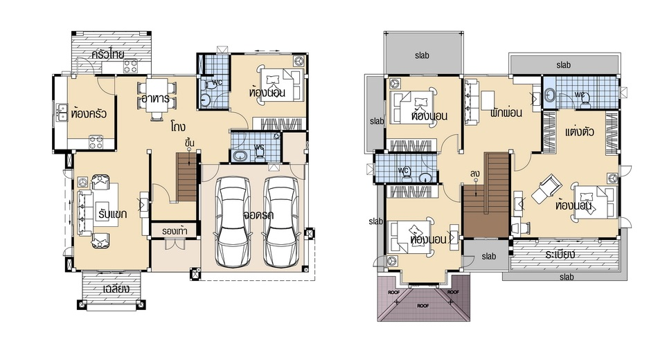 House plans 10.8x12.5 with 4 Beds floor plan