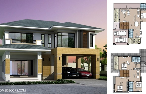House plans 12×12.5 with 4 Beds