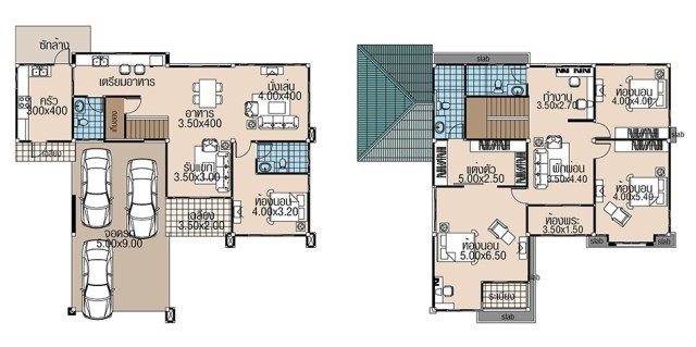 House plans 15.5x13 with 4 Beds floor plan
