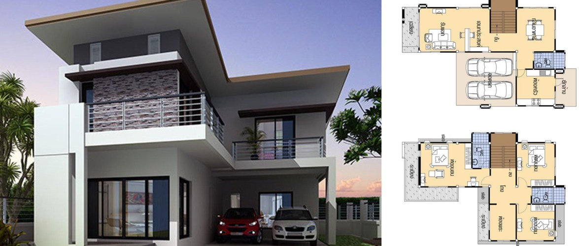 House plans 9×14 with 4 Beds