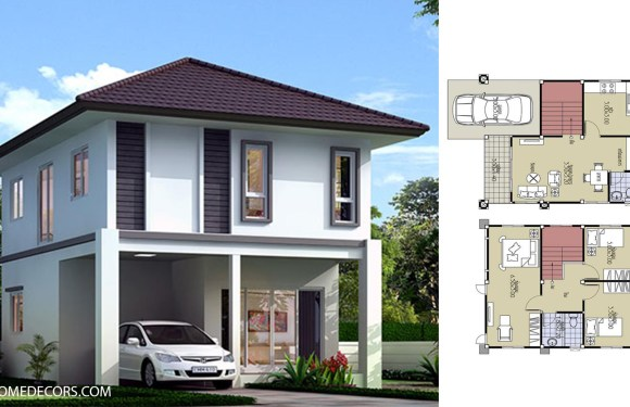 Small House Plans 6.5×8.2 with 3 Beds