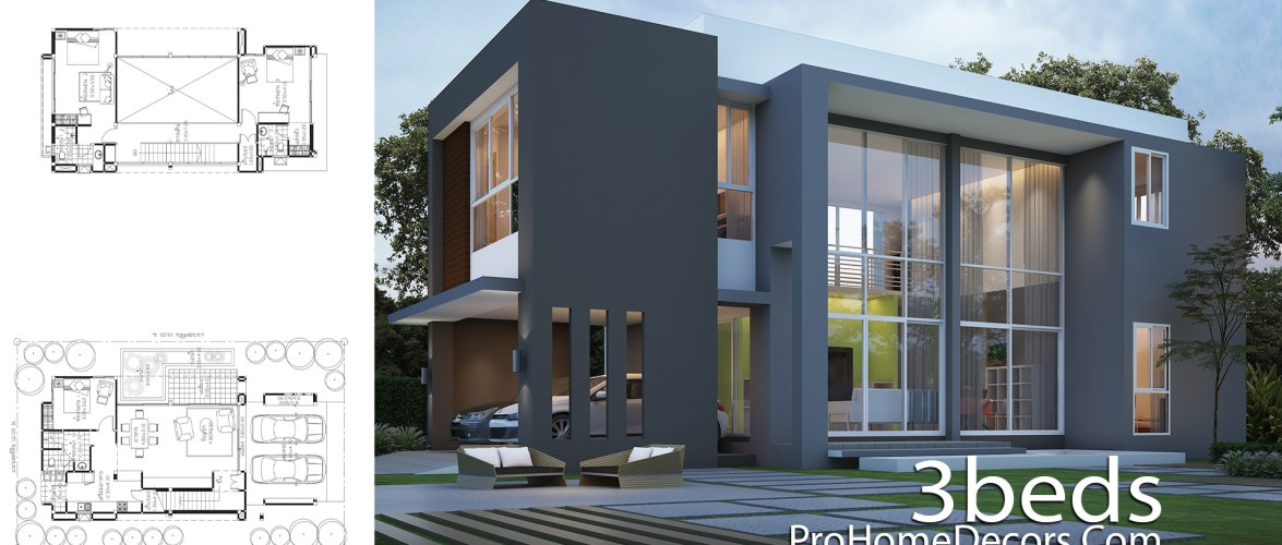 House Plan Plot 12×19 Meter with 3 Bedrooms