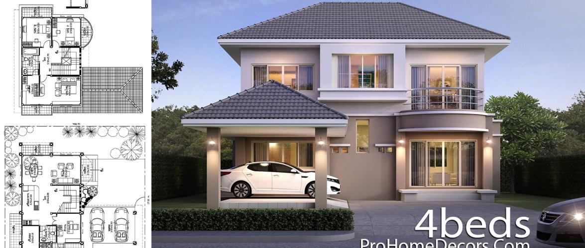 House Plan Plot 17×17 Meter 4 Bedrooms