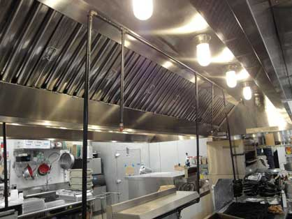 Restaurant Kitchen Ventilation hood filters service in central texas | pro hood cleaning