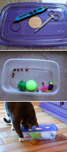 Изготовление игрушки из контейнера
