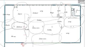 Bubble diagrams for design demonstrates interior planning