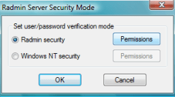 Serv Permissions - Radmin 3 Remote Support