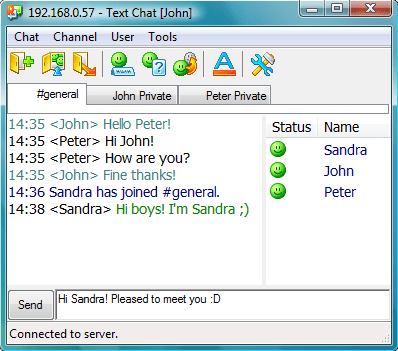 Text Chat - Radmin 3 Remote Support
