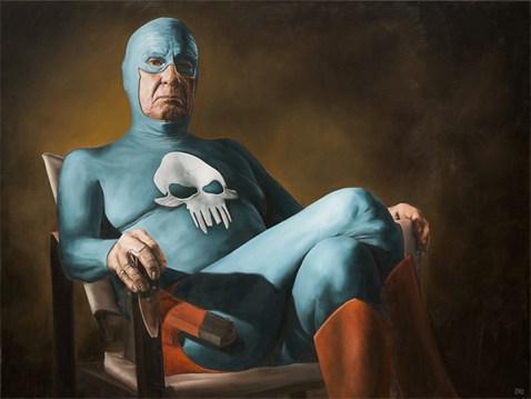 Aging Superhero Oil Painting 2