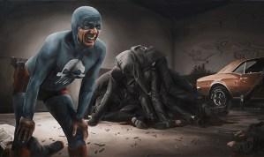 Aging Superhero Oil Painting 3