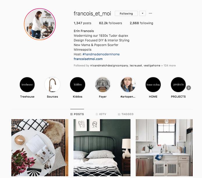 screenshot of the instagram account @francois_et_moi