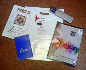 Promotional products for participants.